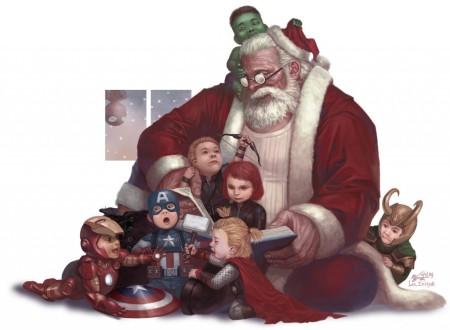 Avengers beim Weihnachtsmann